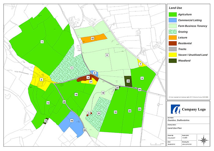 GIS & Mapping Services - An example of a Land Use Plan