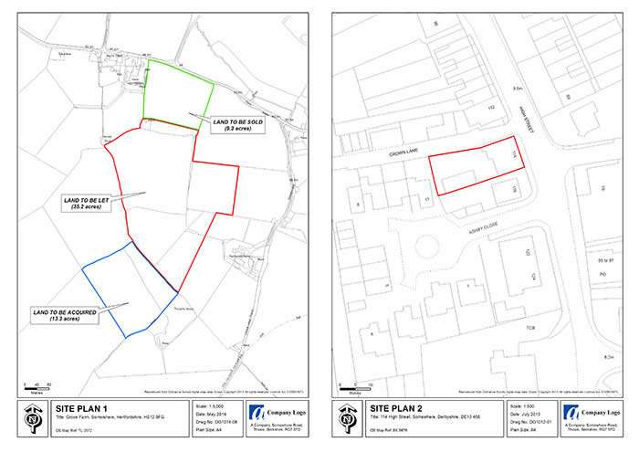 GIS & Mapping Services - An example of a Site Plan