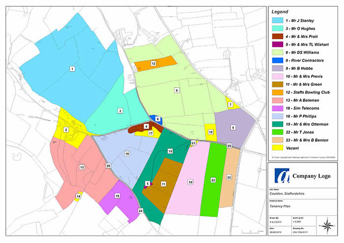 GIS & Mapping Services - An example of a Tenancy Plan
