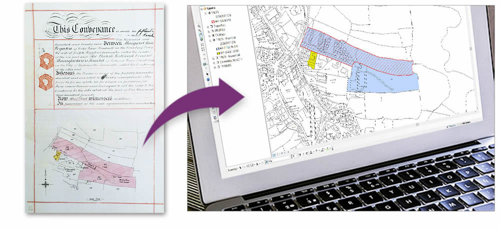 GIS Services - Conveyance plan digitised