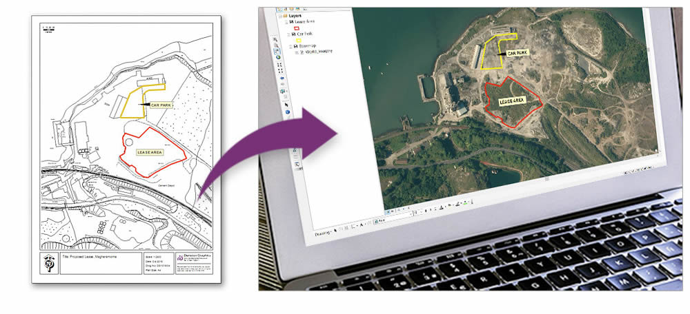 GIS Services - OS map and aerial view