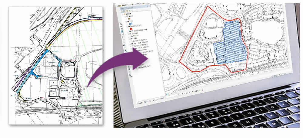 GIS Services - Digitised paper plan