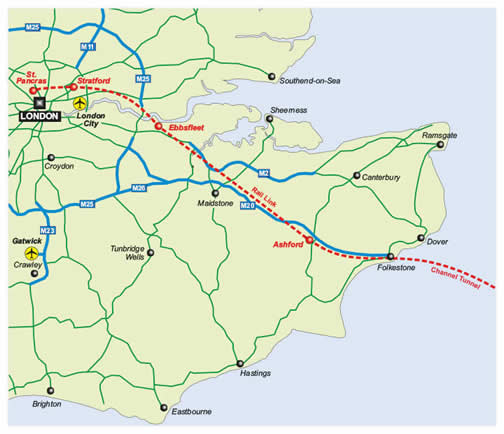 Channel Tunnel Map Design